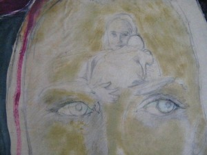 Detail, Mother and Child Drawing by  Paul Beattie